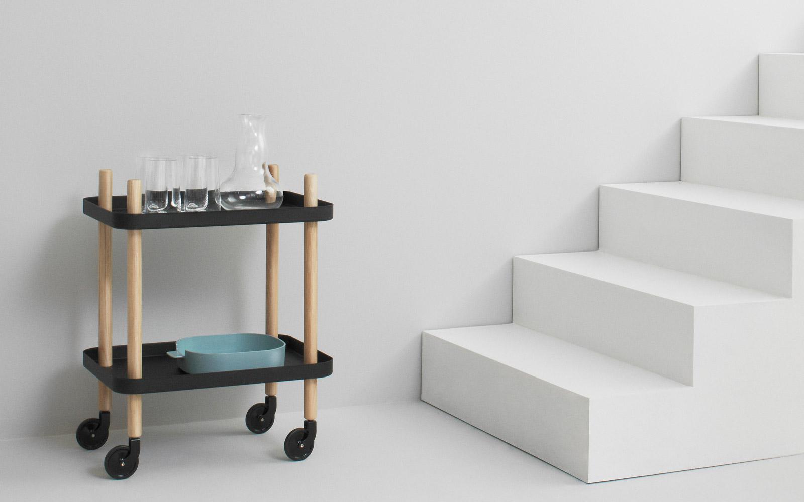 Block table mobile side tabel in a light design for Table design mobile