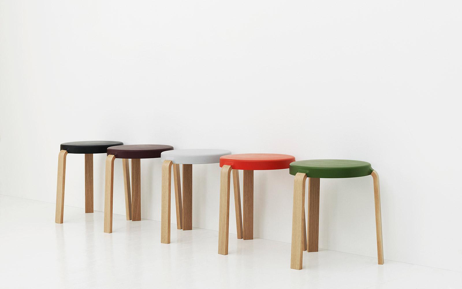 tap stool in oak black innovative three legged stool