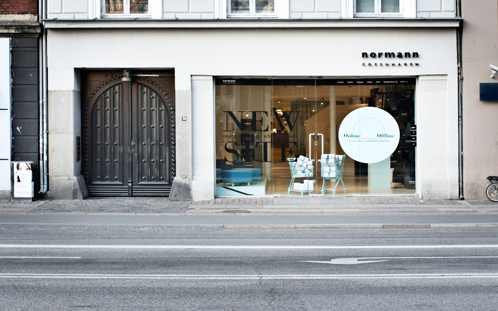 Online vs offline for Normann copenhagen shop