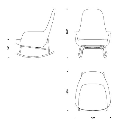 drawing furniture plans. ERA ROCKING CHAIR HIGH Drawing Furniture Plans