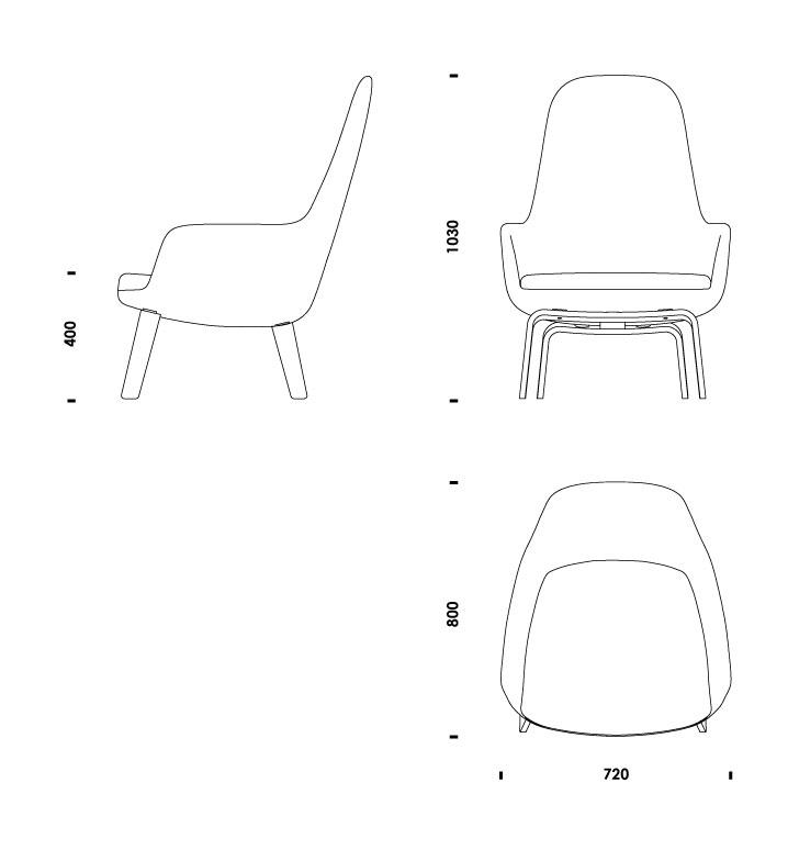 ERA LOUNGE CHAIR HIGH WOOD  sc 1 st  Normann Copenhagen & Download 2D 3D CAD files