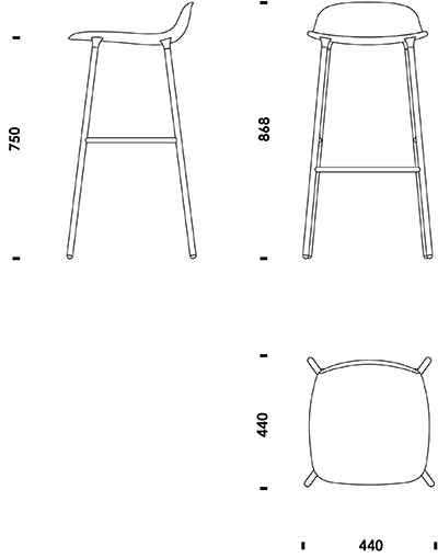 Form Barstool Cad Drawings