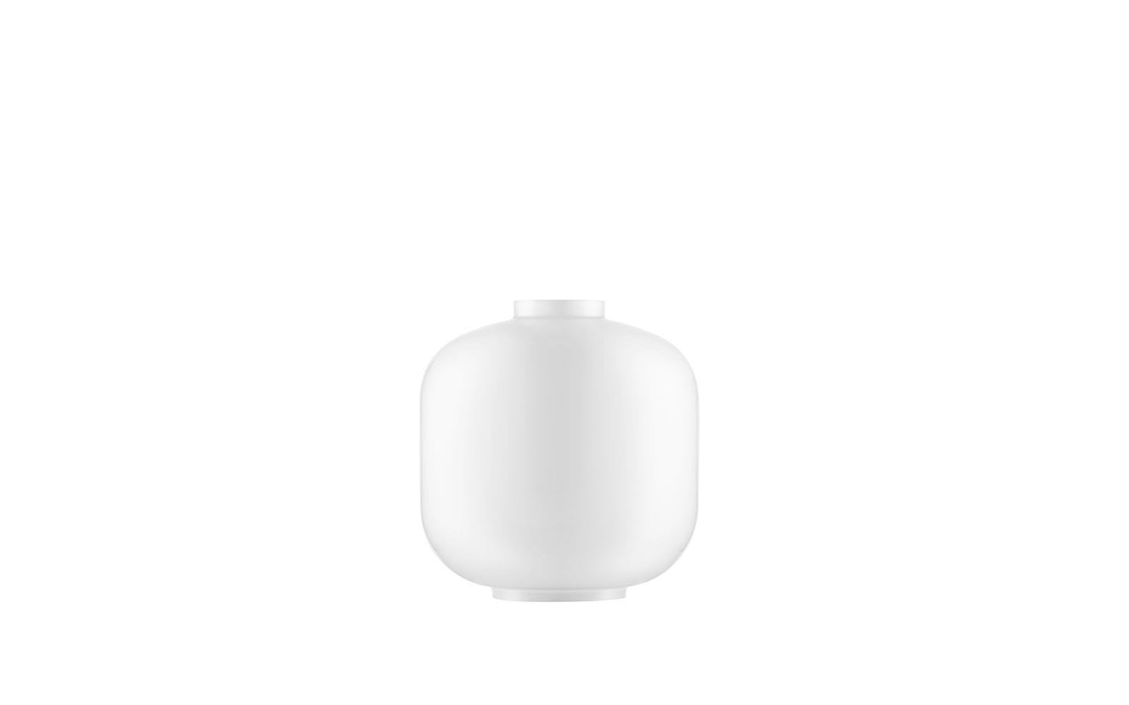 Amp Lamp Glass Small White
