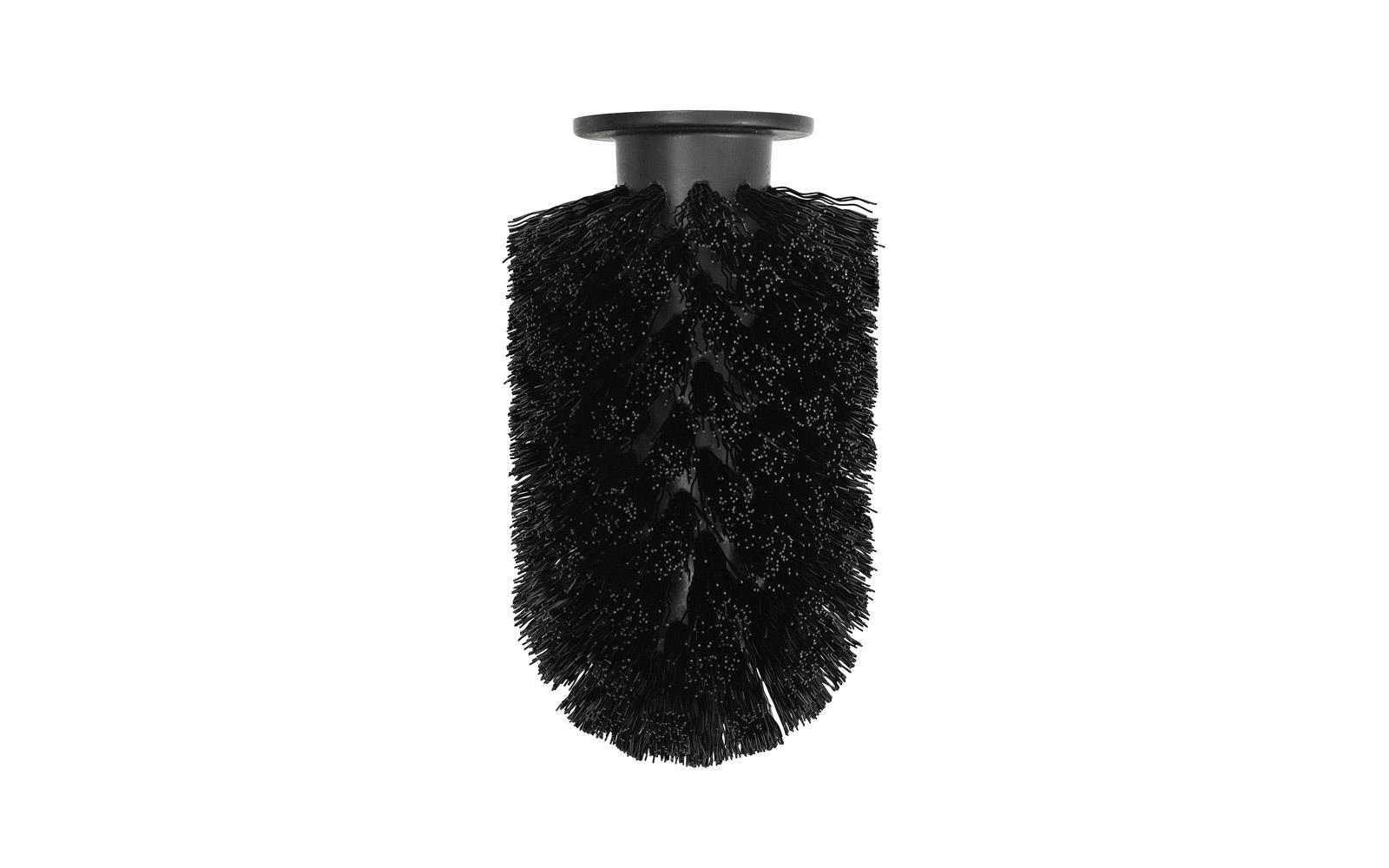 Toilet Brush Head : Ballo brush head in black replacement head for ballo toilet brush