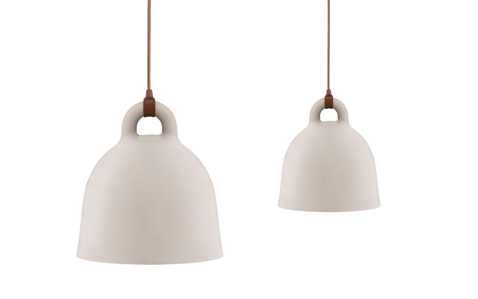 Bell Lamp Small A Robust And Minimalistic Ceiling Lamp In Matte Sand