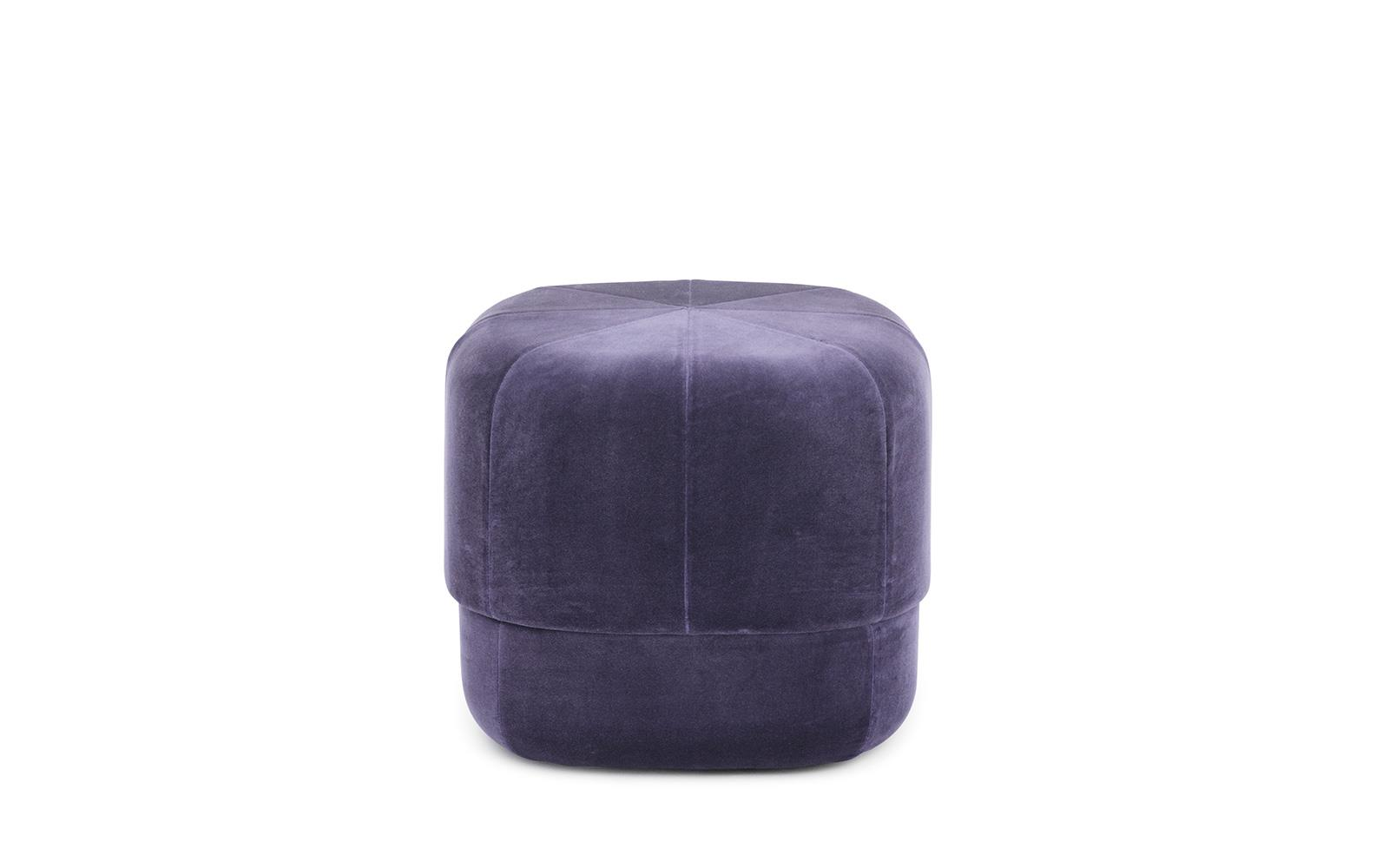 Circus Pouf small in purple velour – Nordic Moroccan pouf