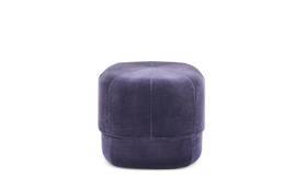 Circus Pouf small in light blue velour – Nordic Moroccan pouf