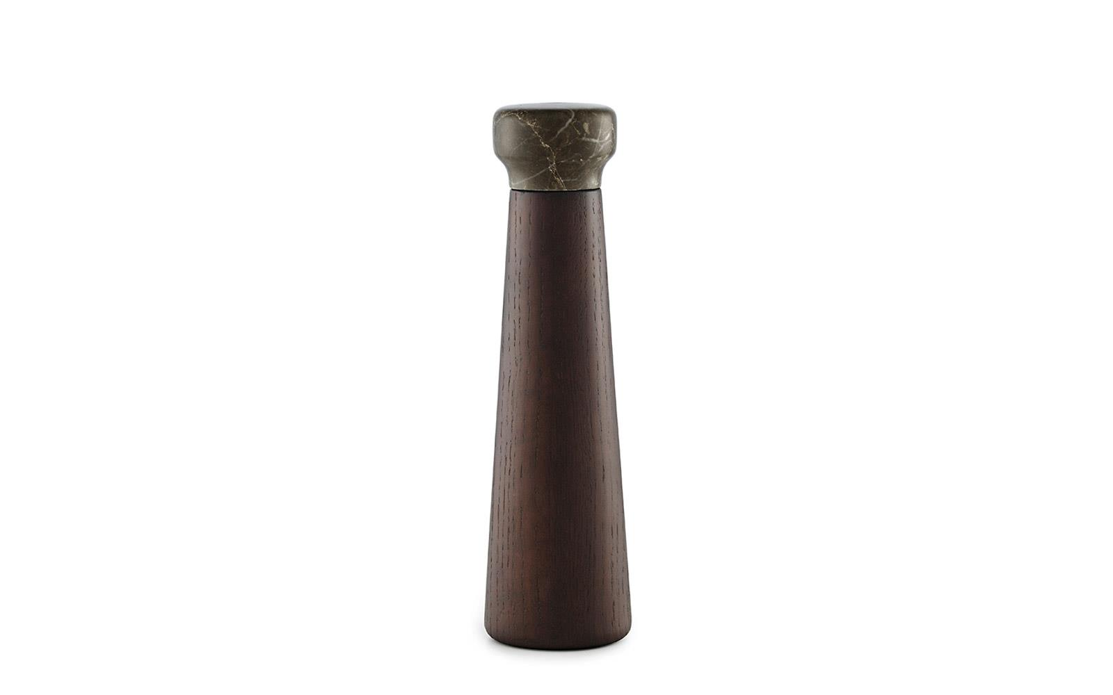 Craft Pepper Mills Large In Stained Oak Amp Marble