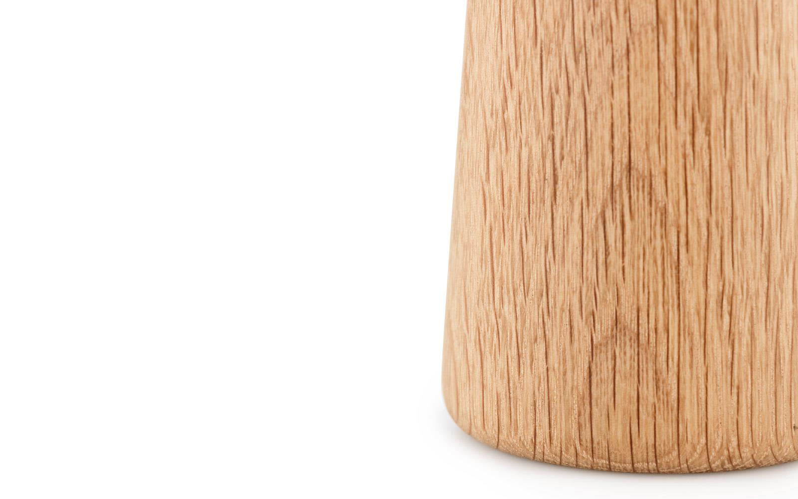 Craft Mills Small Salt Classic Look With A Simple Flared Shape In Marble And Oak