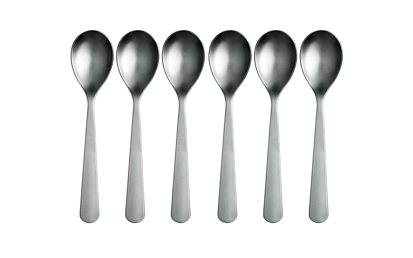 normann spoon a modern piece of cutlery in stainless steel