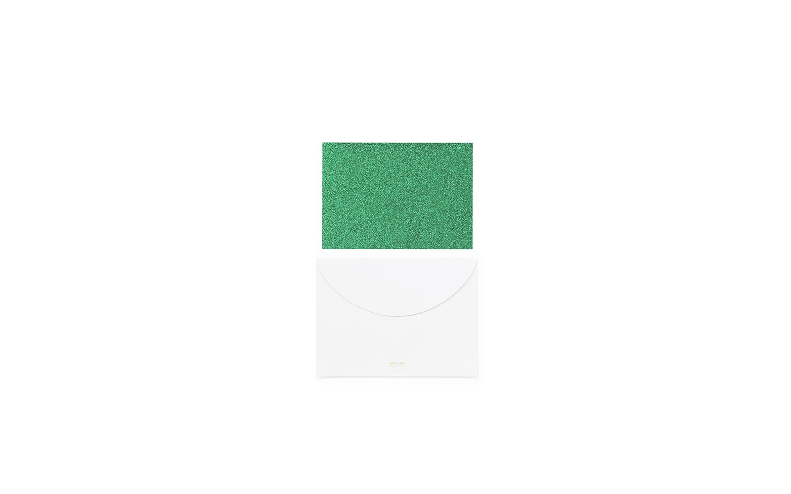 Dark Green Greeting Card A Personal Gift Tag