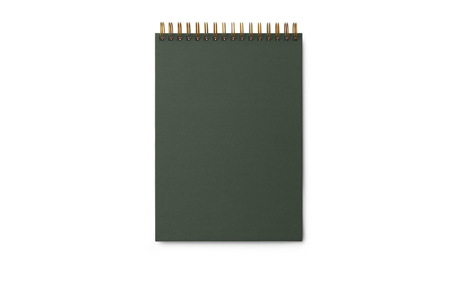 dark green notebook with gold spine buy it online here