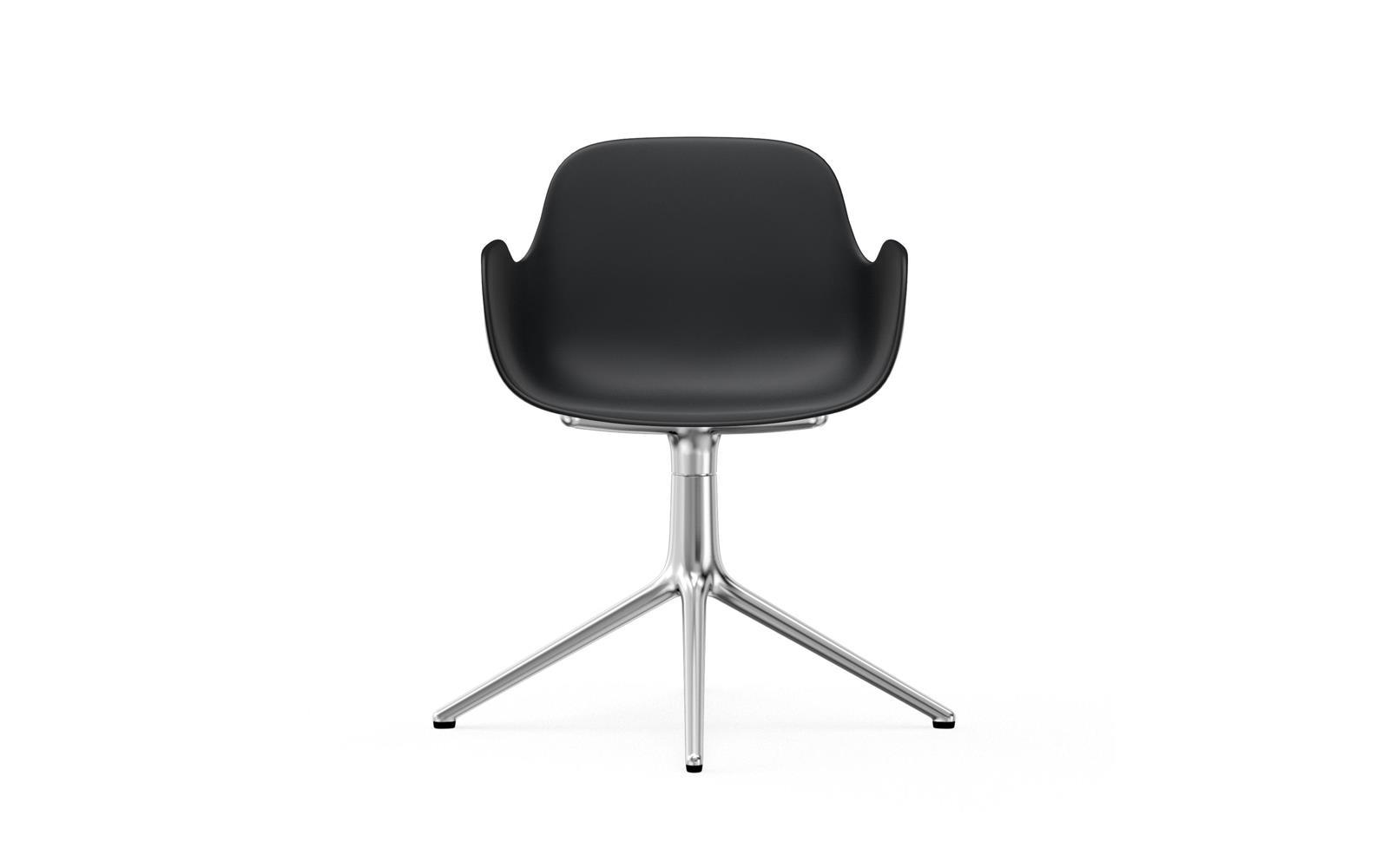 Form Armchair Swivel 4L Alu Black