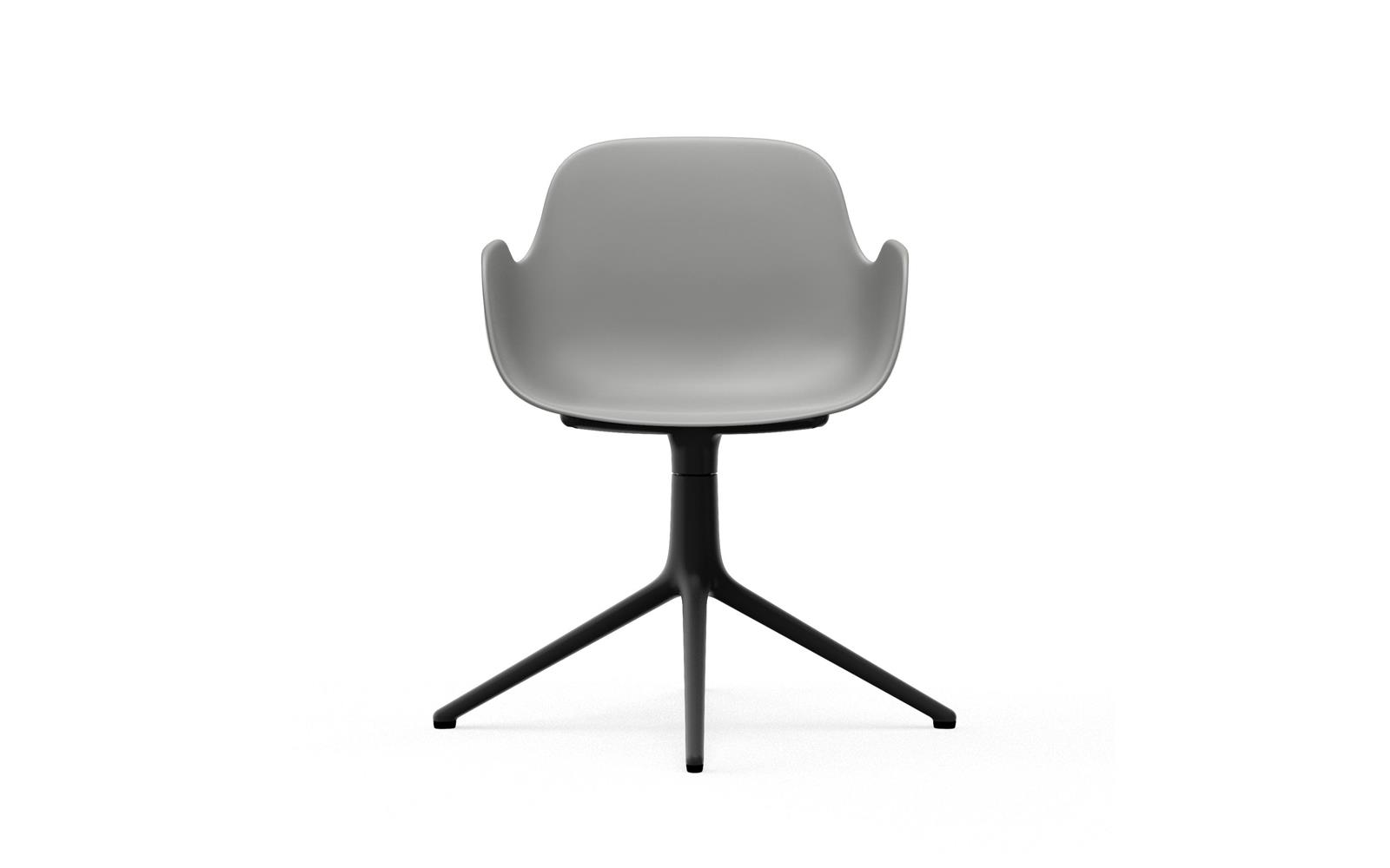 Form Armchair Swivel 4L Black Alu2