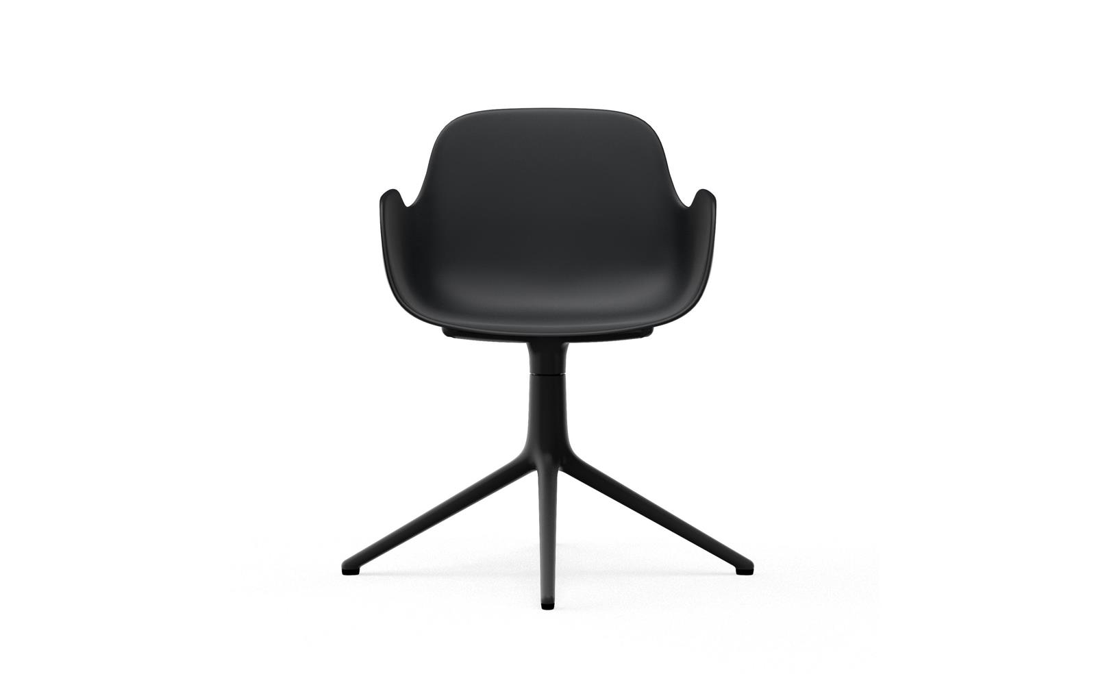 Form Armchair Swivel 4L Black Alu2