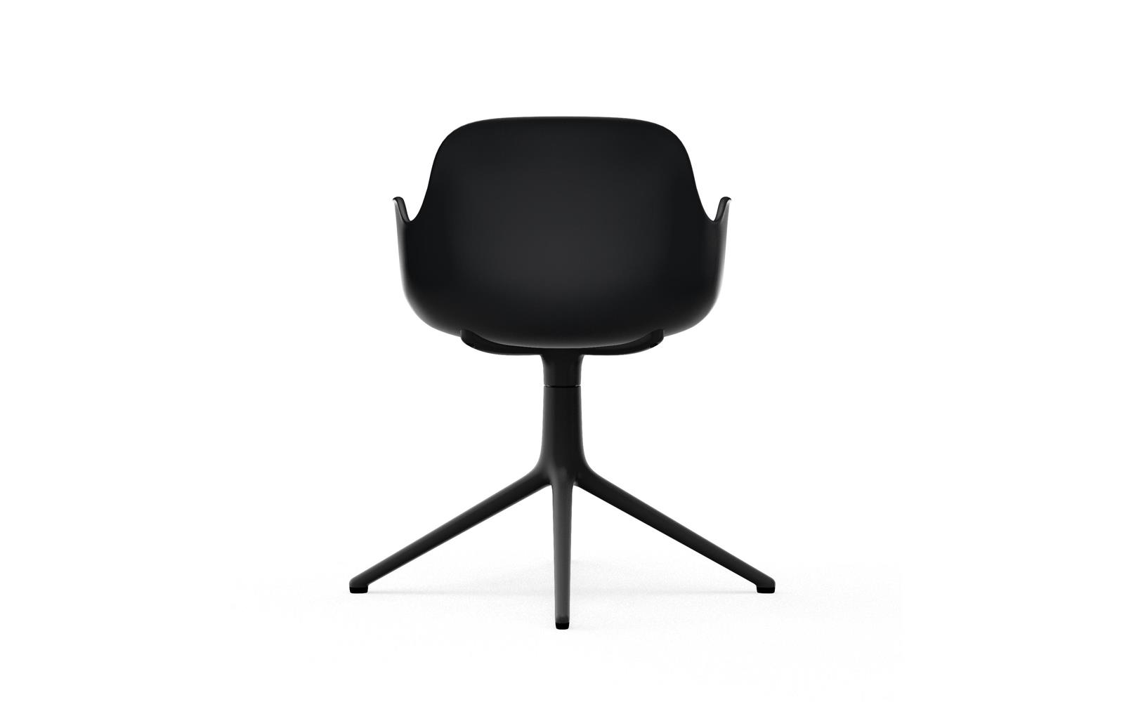 Form Armchair Swivel 4L Black Alu4