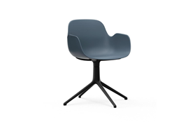 Form Armchair Swivel 4L Black Alu1