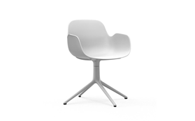 Form Armchair Swivel 4L White Alu1