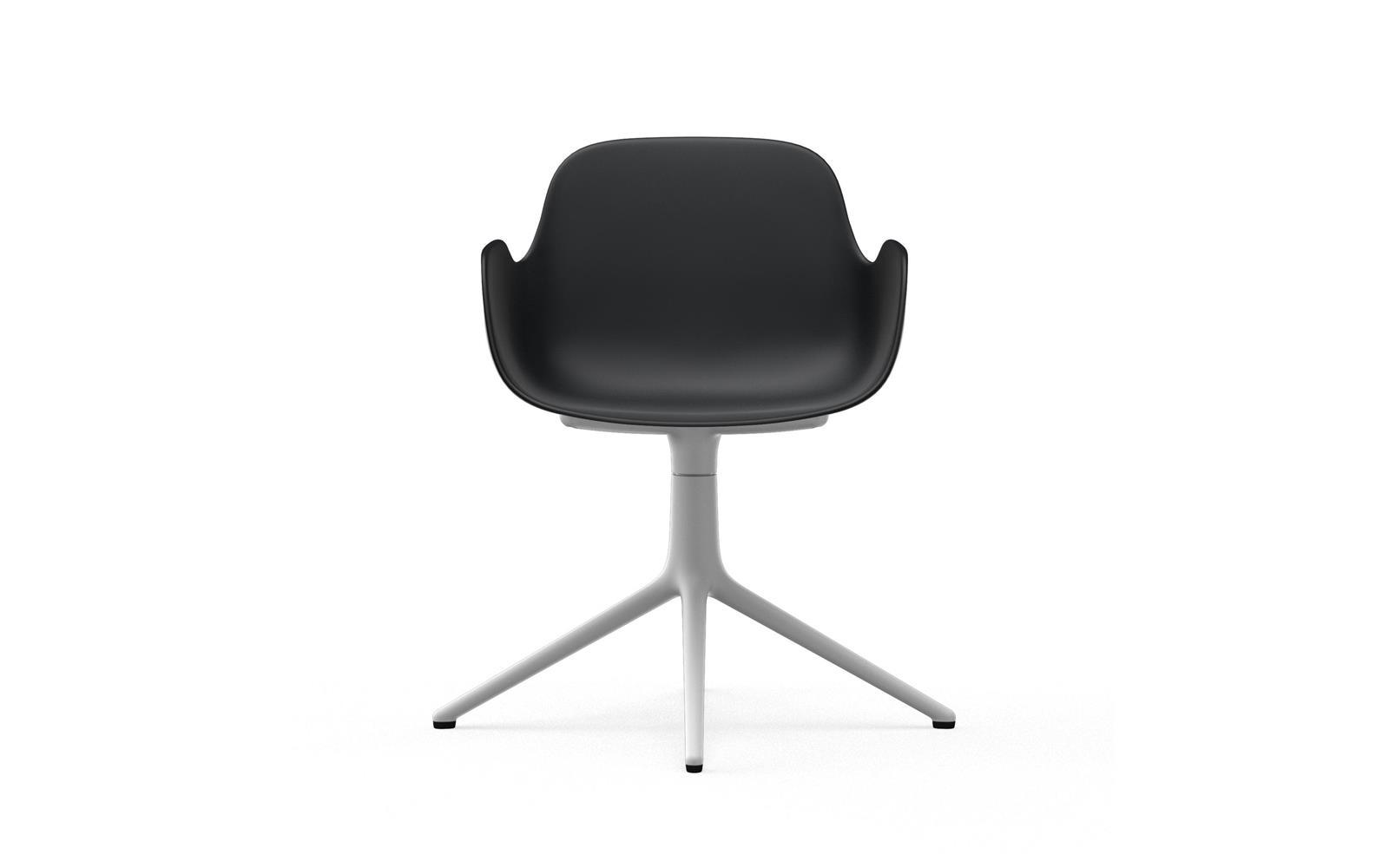 Form Armchair Swivel 4L White Alu2