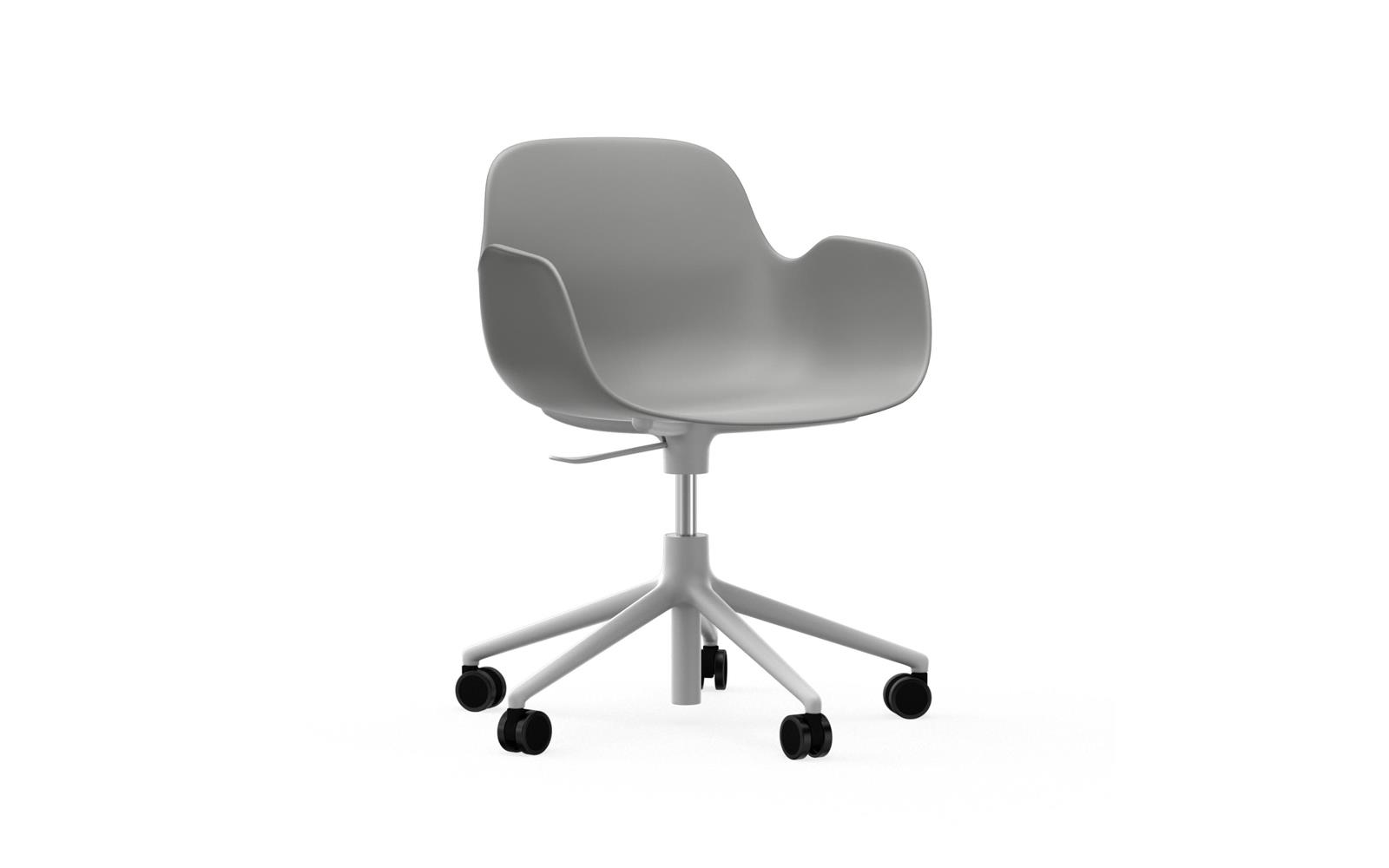 Form Armchair Swivel 5W Gaslift White Alu1