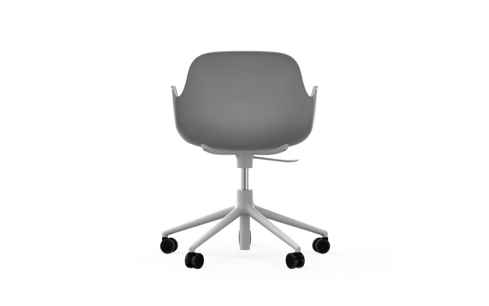 Form Armchair Swivel 5W Gaslift White Alu4