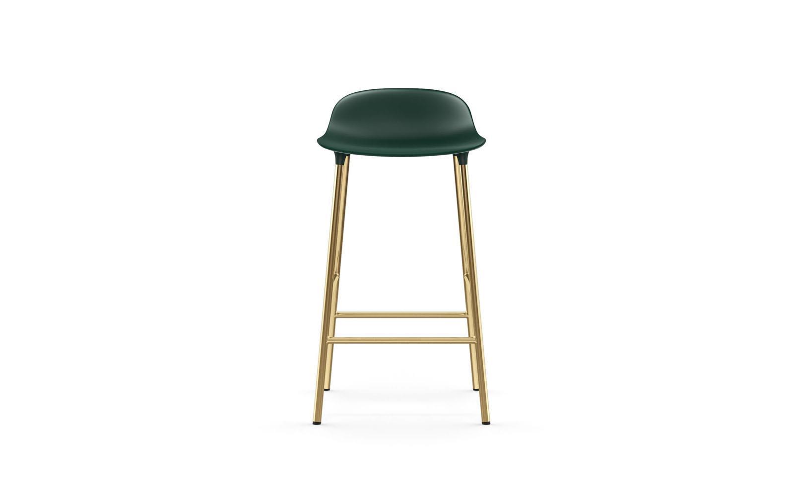 barstol 65 cm Form barstol 65 cm messing grøn barstol 65 cm