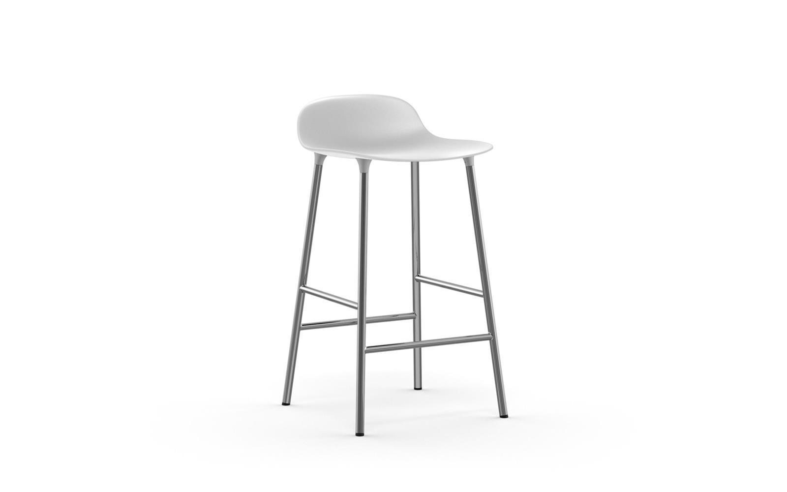 439b0f73d Form barstol 65 cm hvid/krom