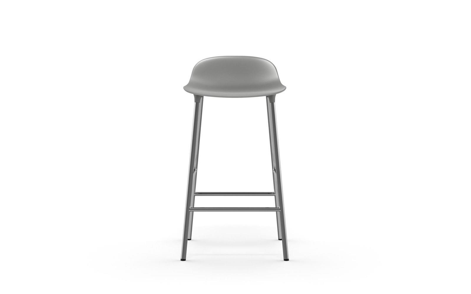 2dd5eb55c Form barstol 65 cm grå/krom
