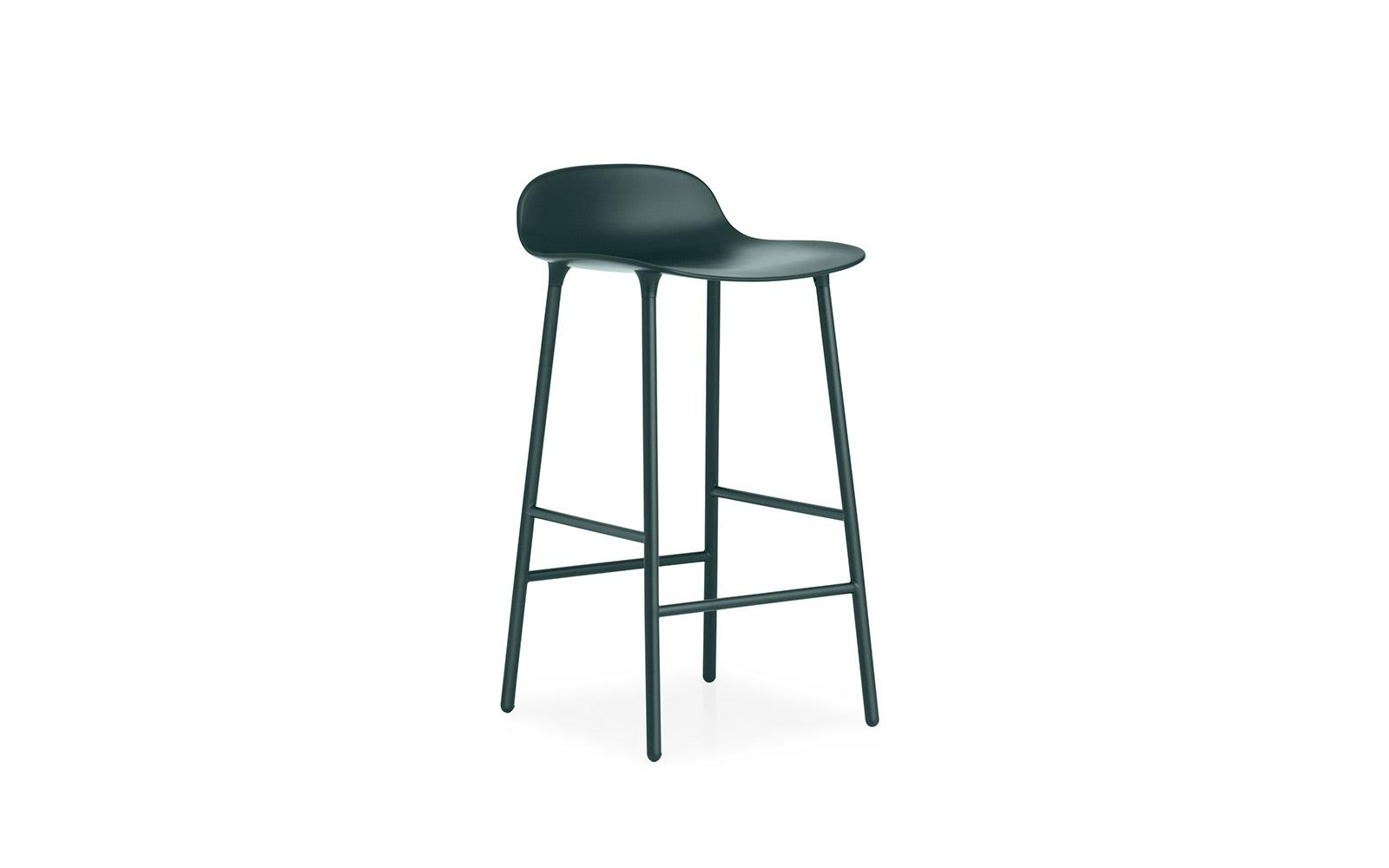 73efc7df6c6a Form Barstool | Molded plastic shell chair with steel legs