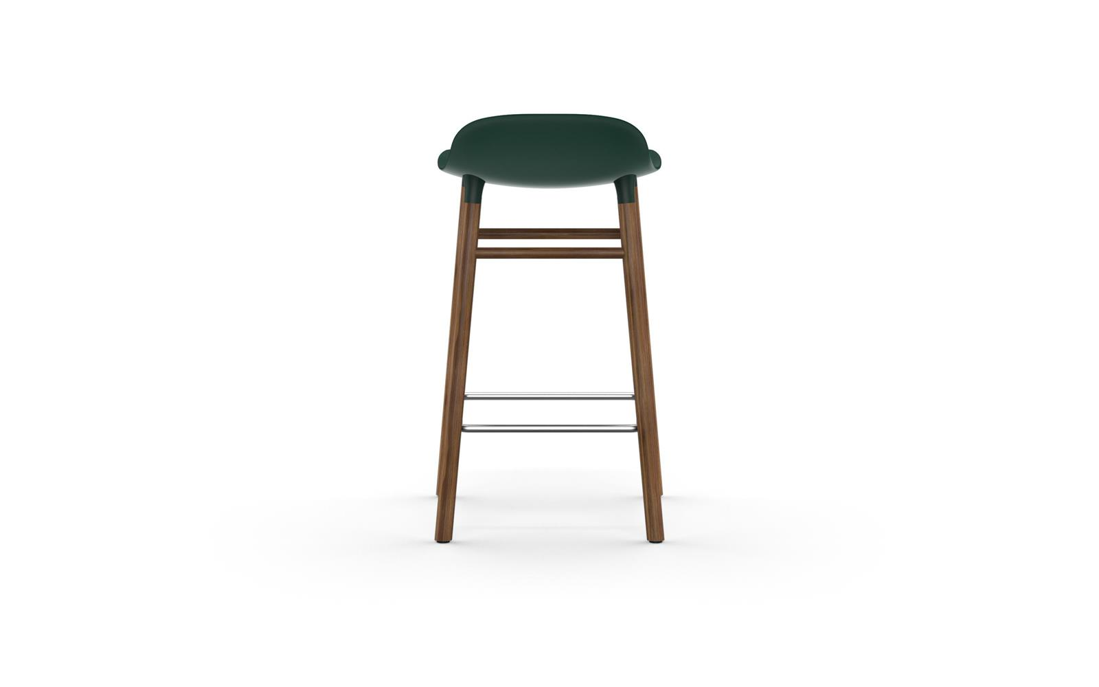 18649ef849b4 Form Barstool | Molded plastic shell chair with walnut legs