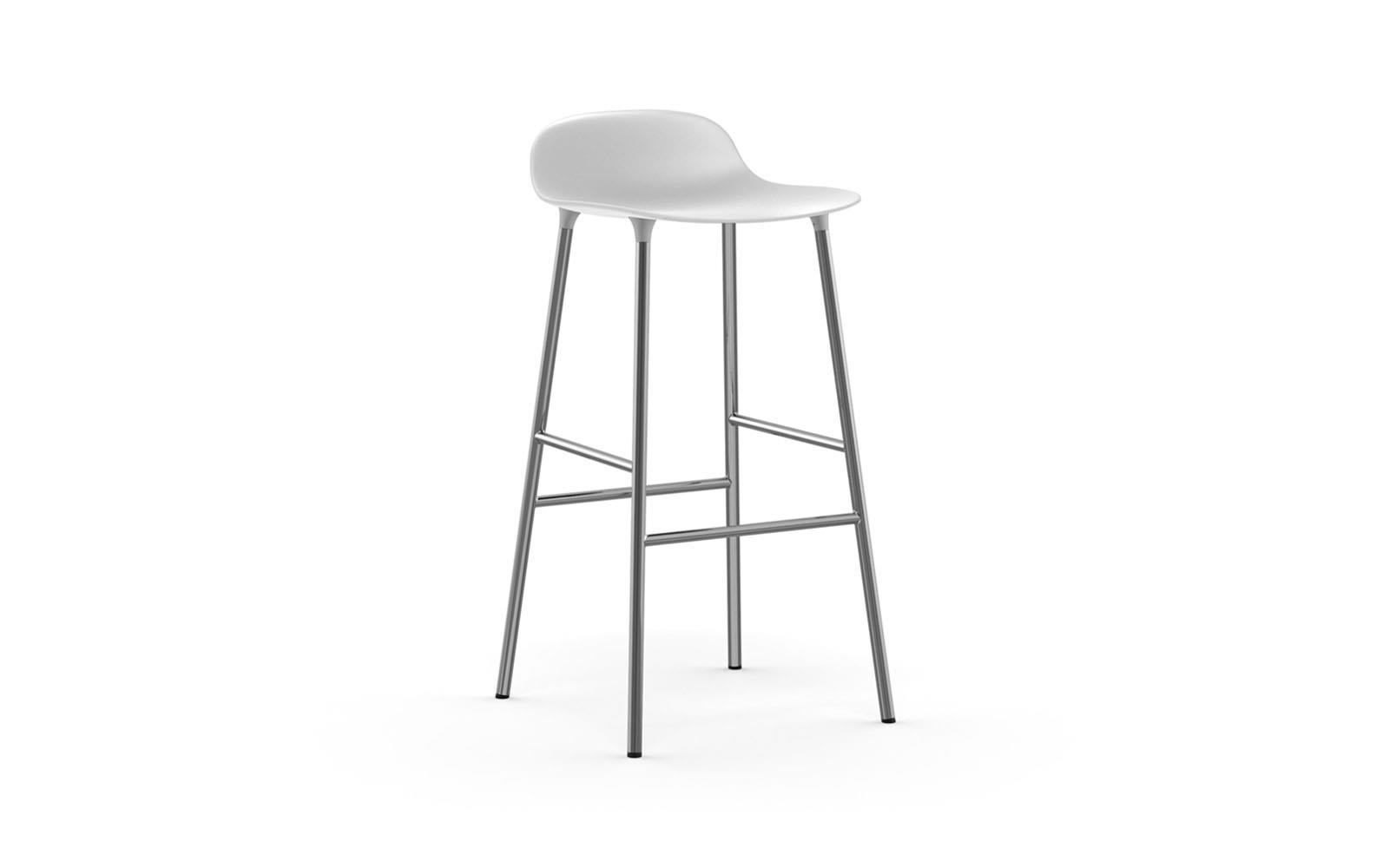 4005a4427 Form barstol 75 cm hvid/krom