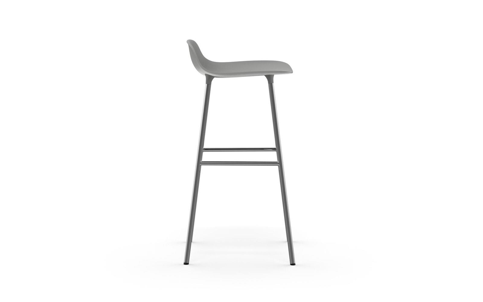 Picture of: Form Barstool Molded Plastic Shell Chair With Chrome Legs