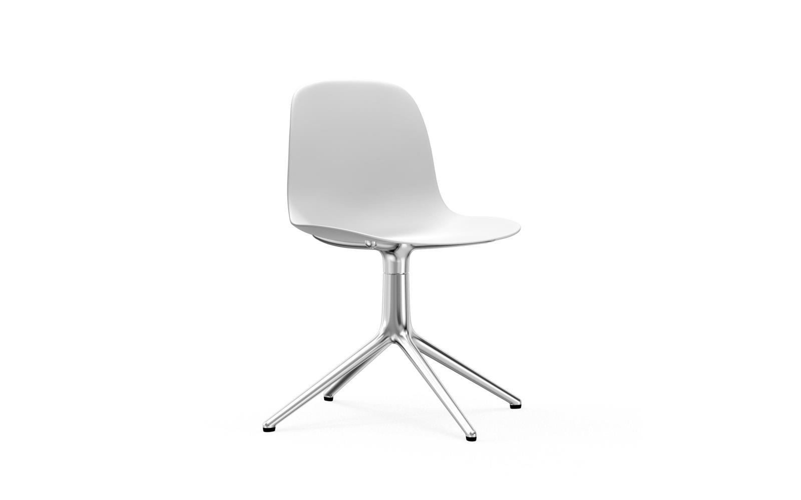 white swivel chair. Form Chair Swivel 4L Alu1 White N