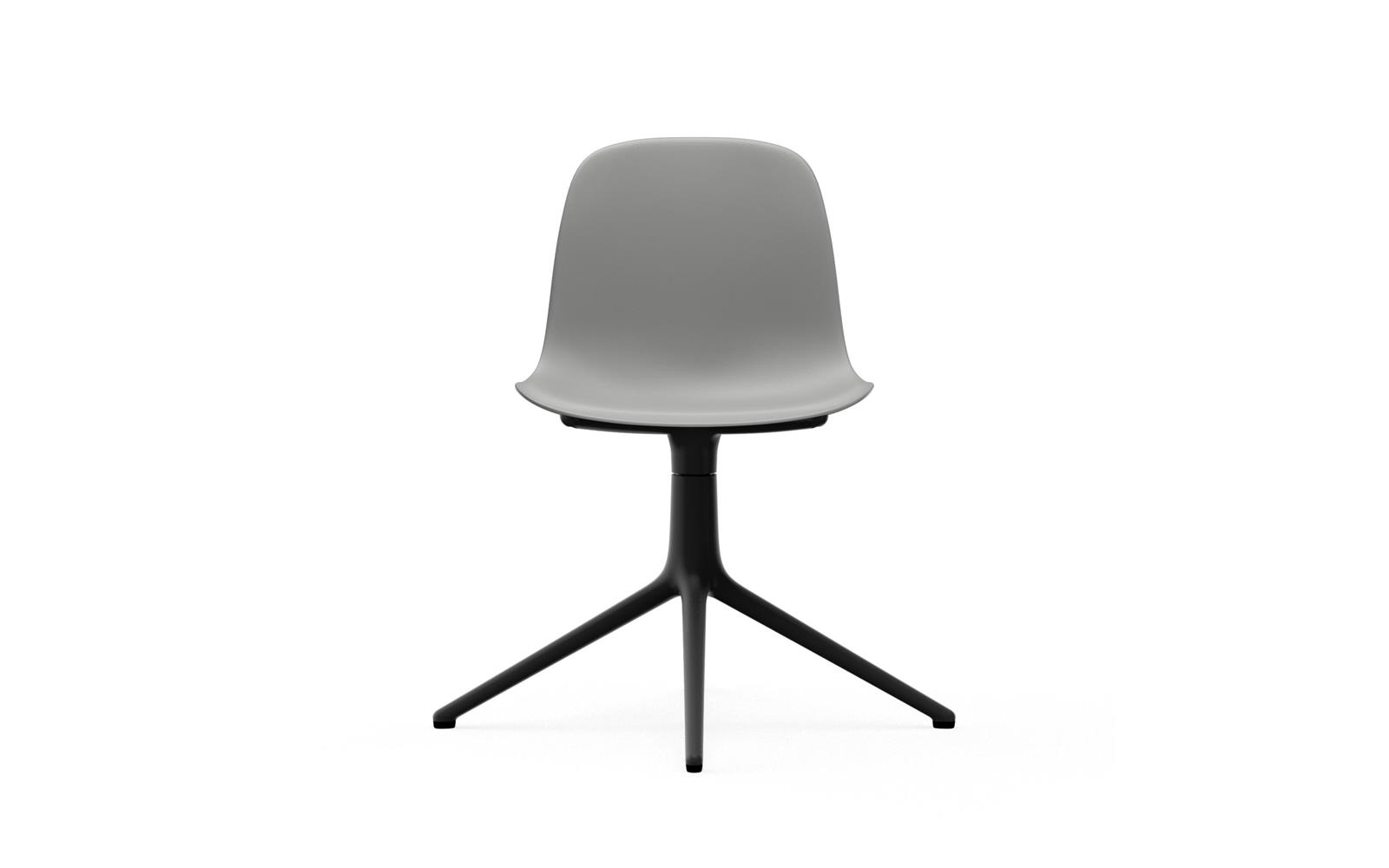 Form Chair Swivel 4L Black Alu2