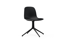Form Chair Swivel 4L Black Alu1