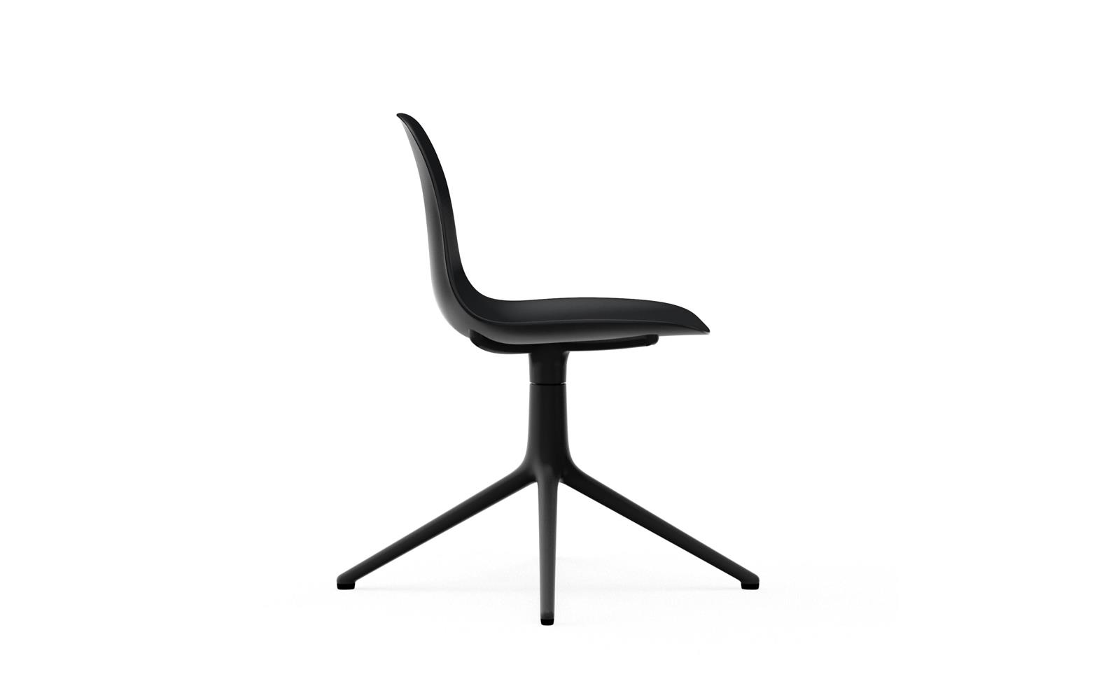 Form Chair Swivel 4L Black Alu3