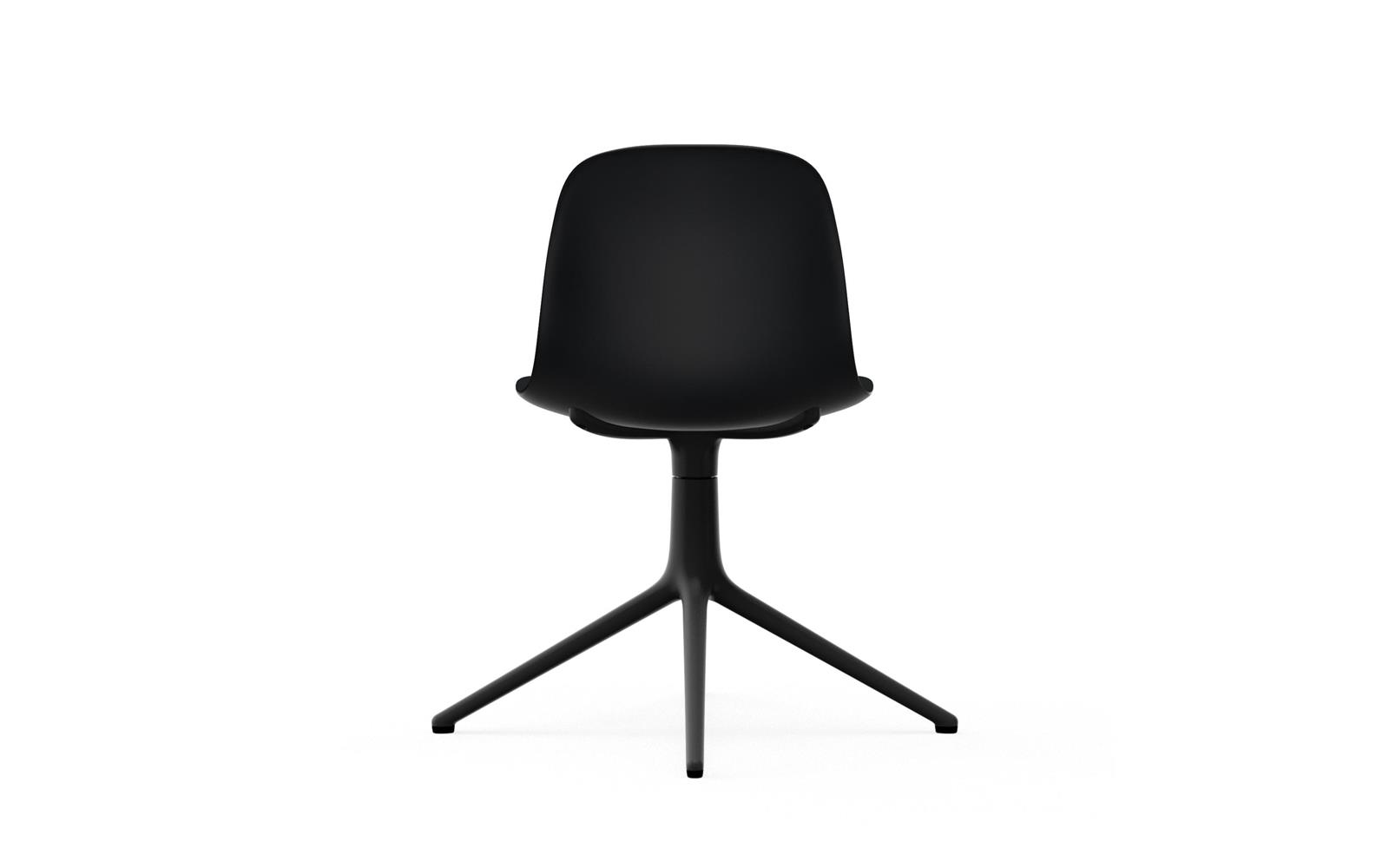 Form Chair Swivel 4L Black Alu4