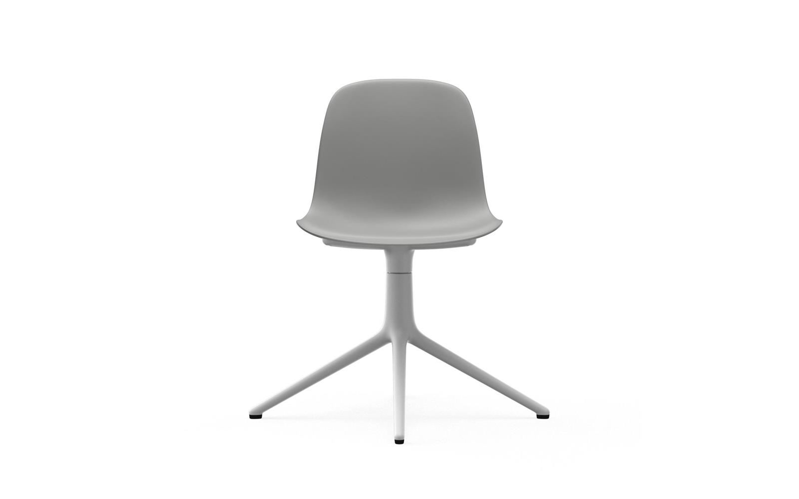 Form Chair Swivel 4L White Alu2