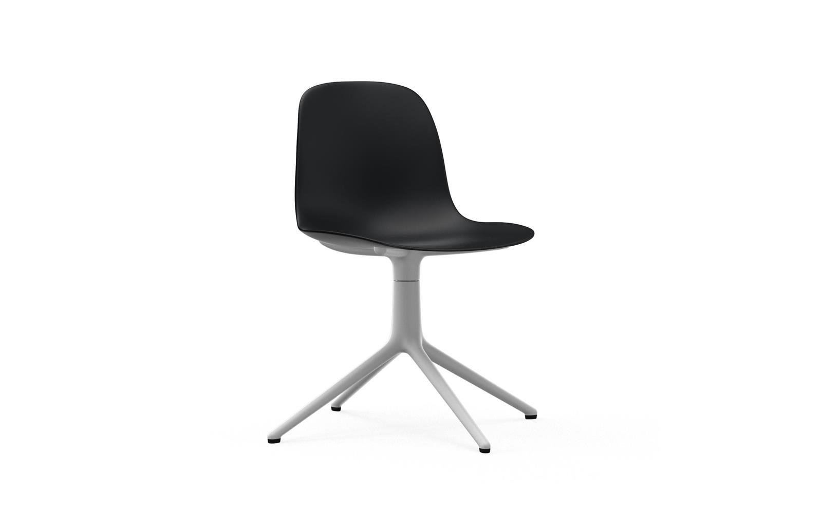 Form Chair Swivel 4L White Alu1