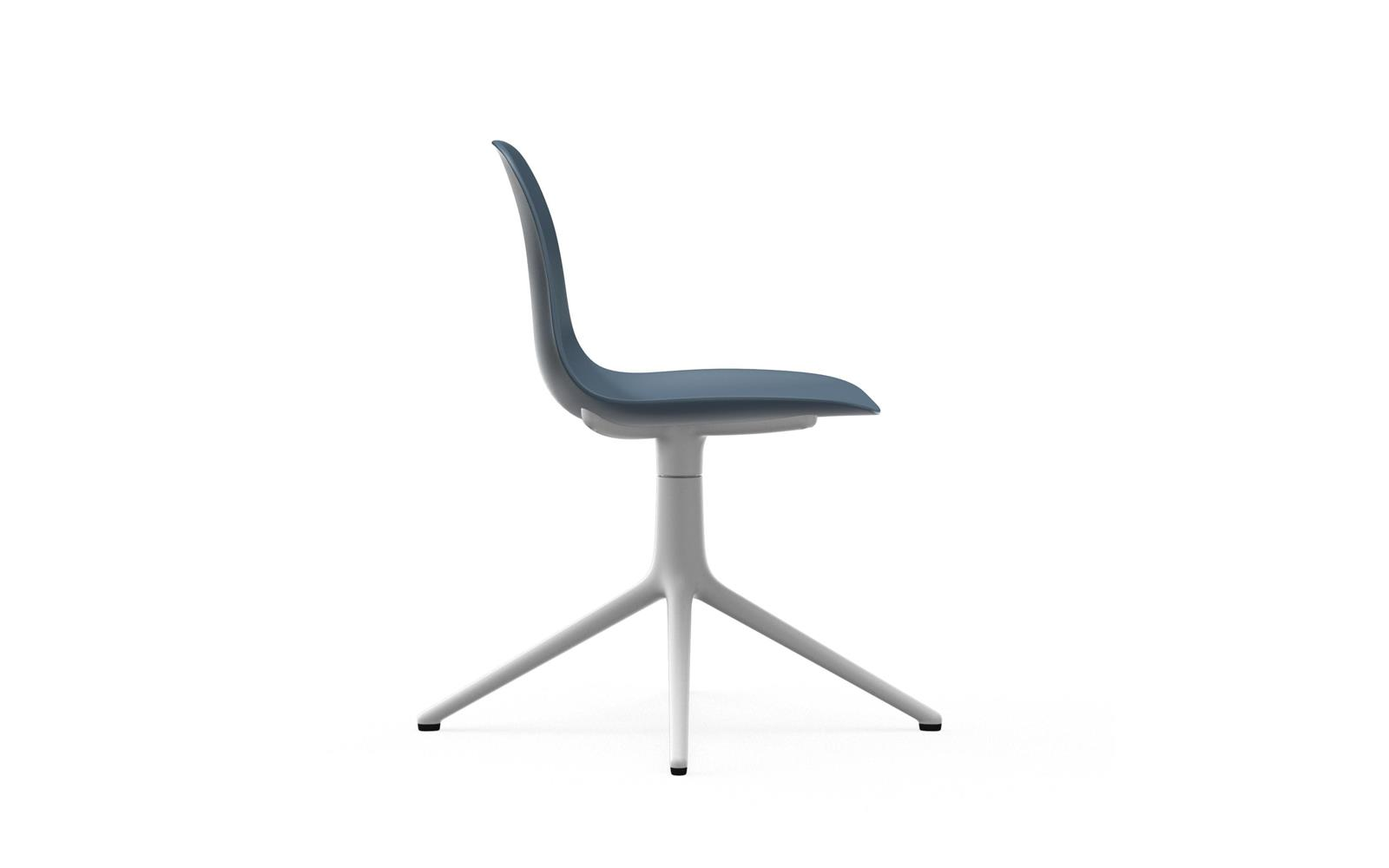 Form Chair Swivel 4L White Alu3