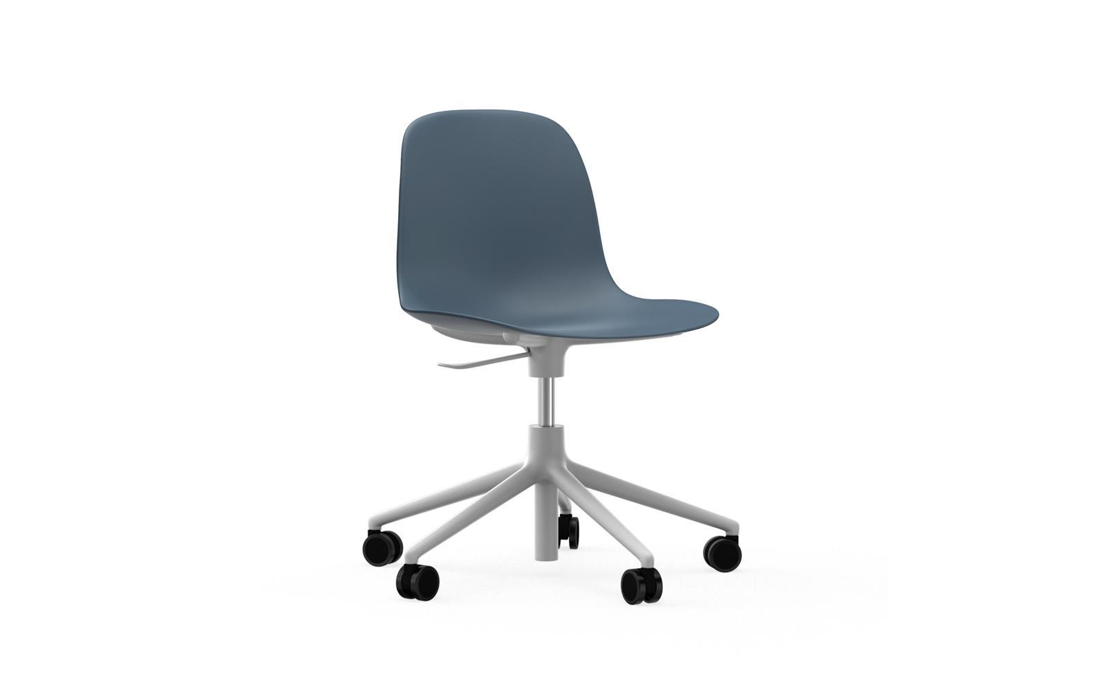 white swivel chair. form chair swivel 5w gaslift white alu1 i