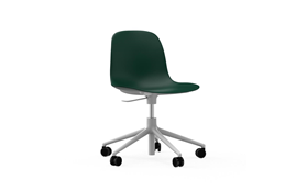 Form Chair Swivel 5W Gaslift White Alu1