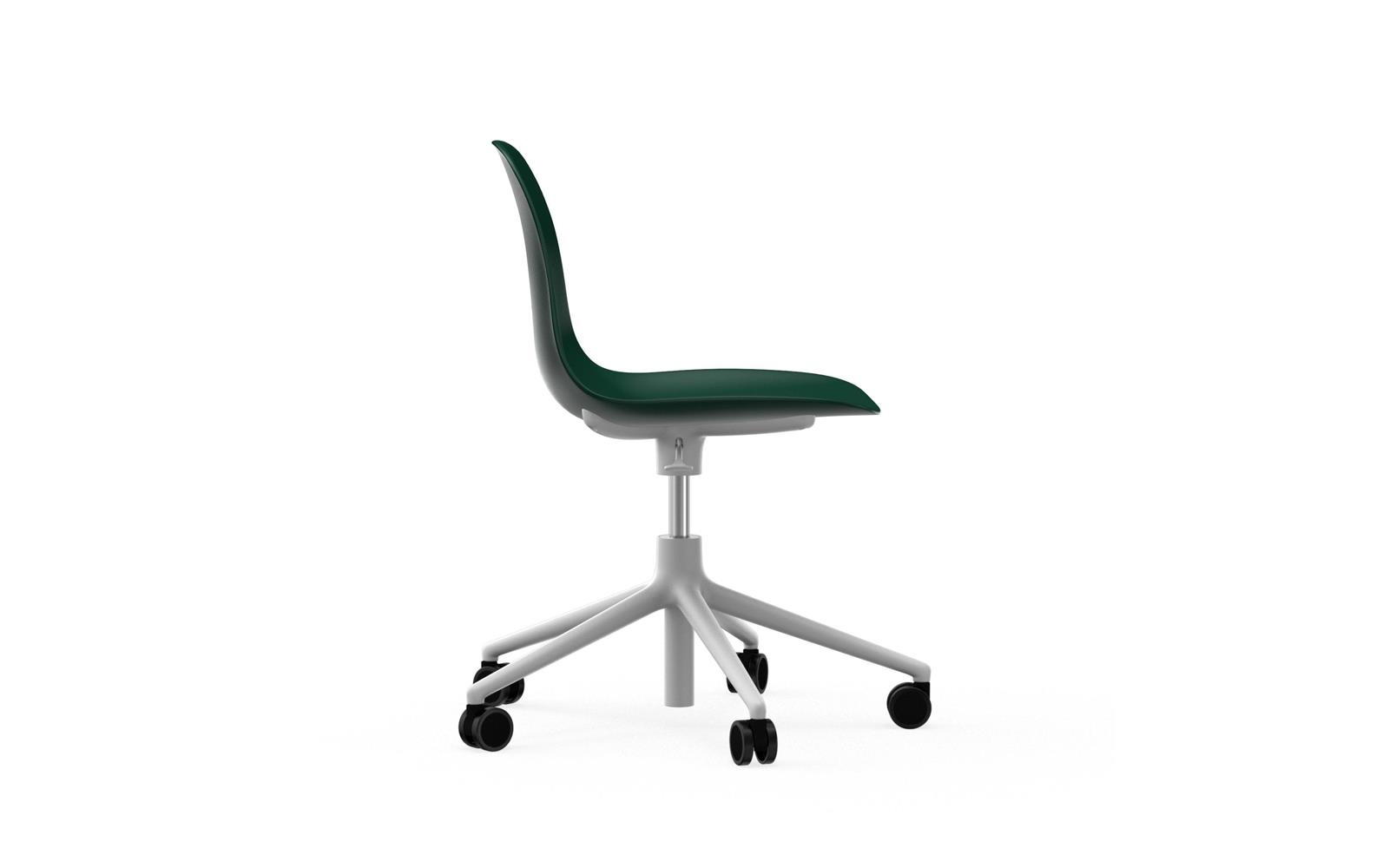 Form Chair Swivel 5W Gaslift White Alu3