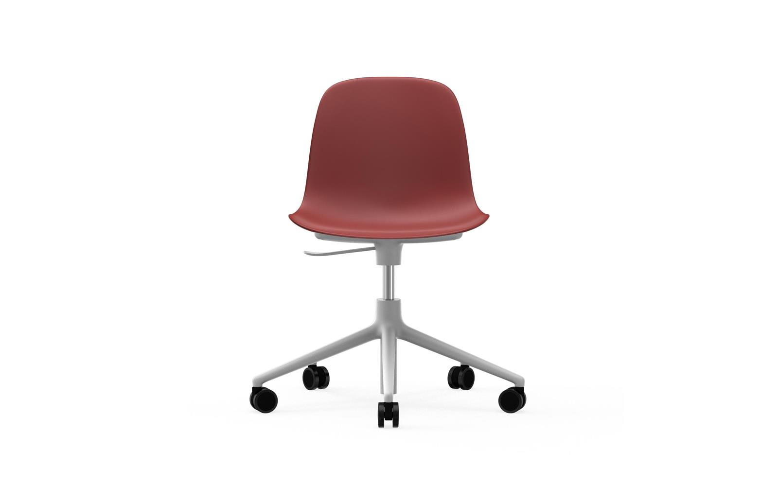 Form Chair Swivel 5W Gaslift White Alu2