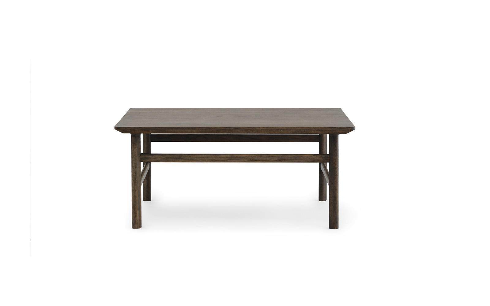 Grow Table 80 x 80 cm Stained Oak2