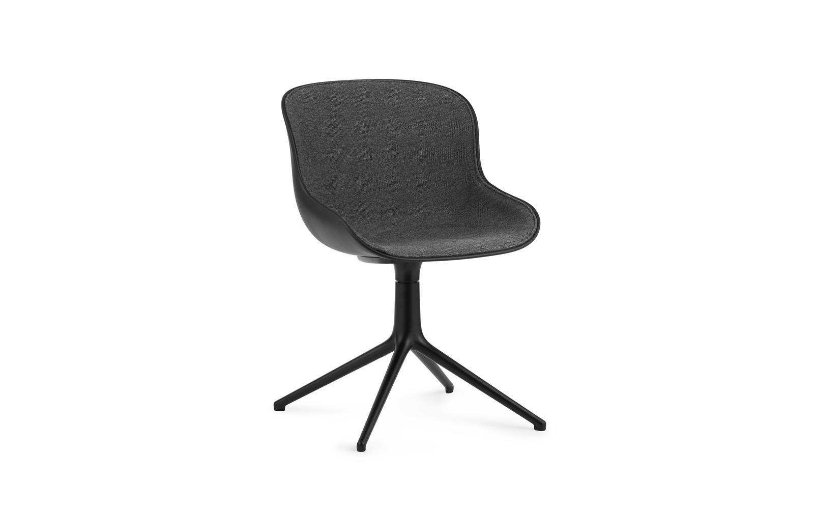Hyg Chair Swivel 4L Front Upholstery Black Alu1