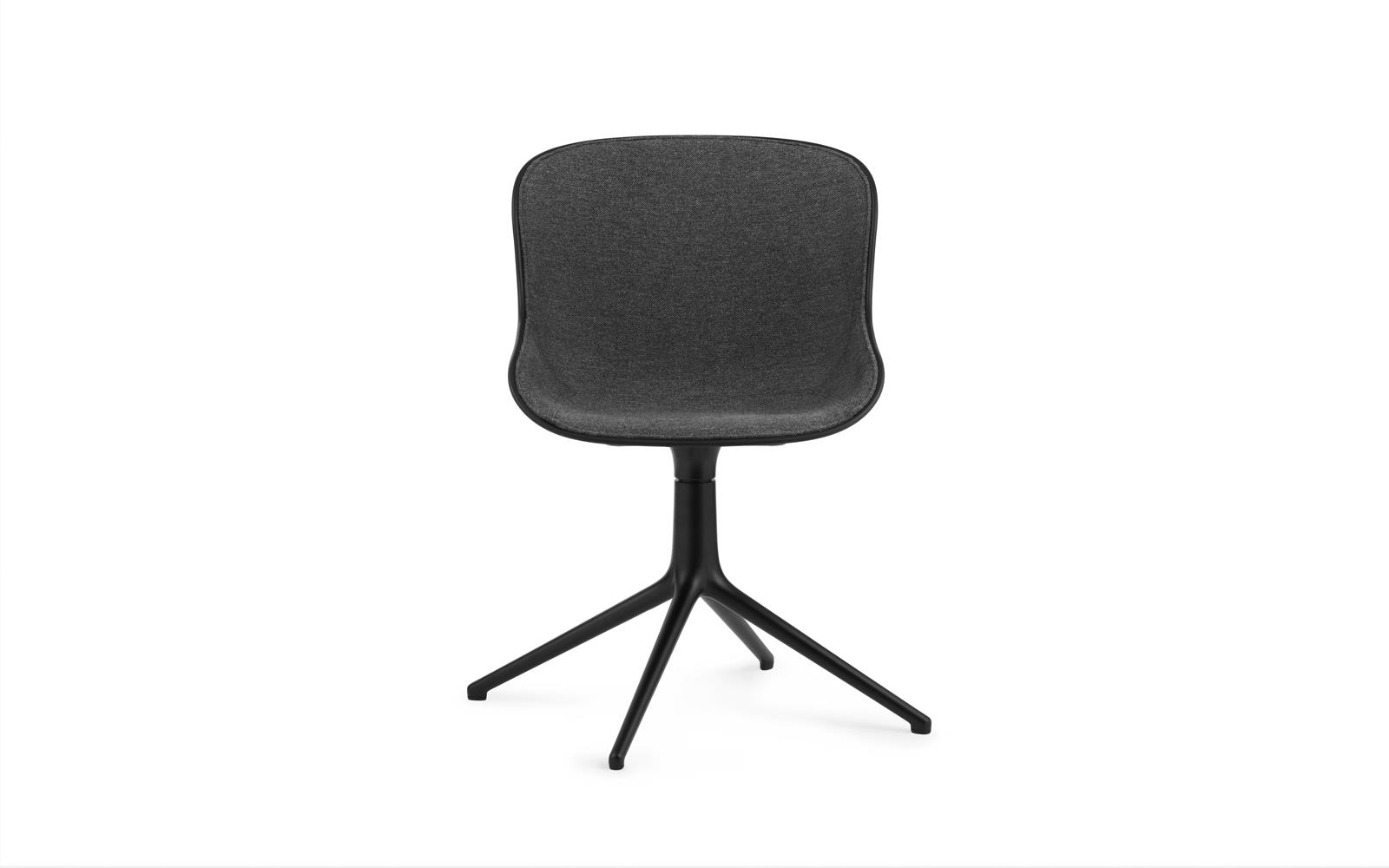 Hyg Chair Swivel 4L Front Upholstery Black Alu2