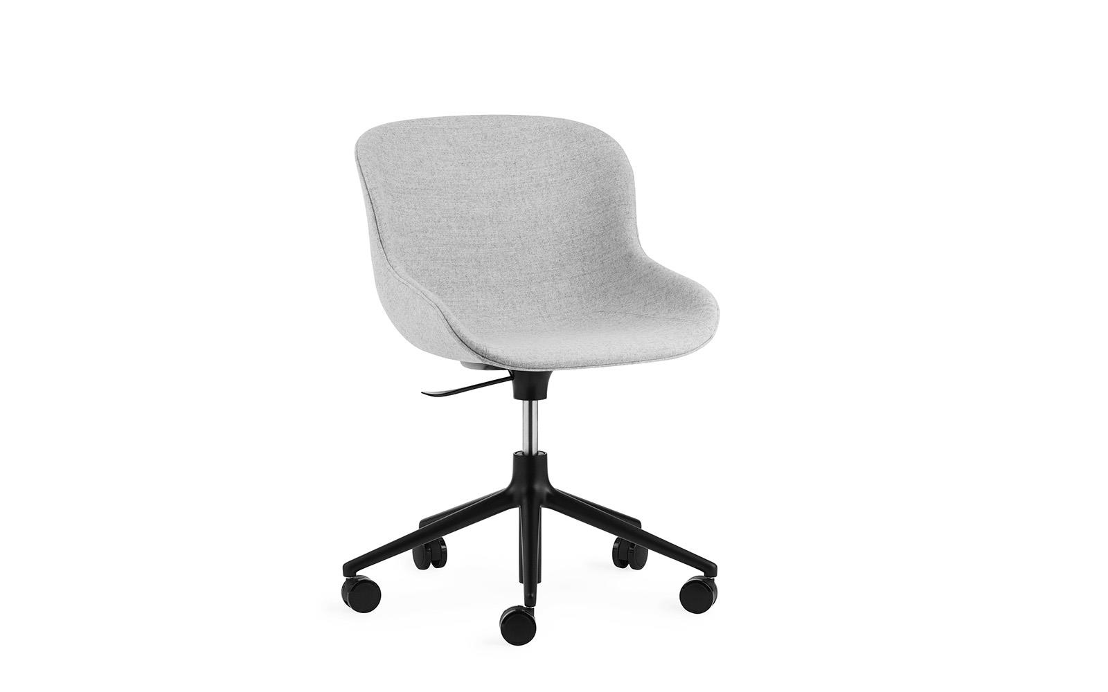 Hyg Chair Swivel 5W Gaslift Full Upholstery Black Alu1
