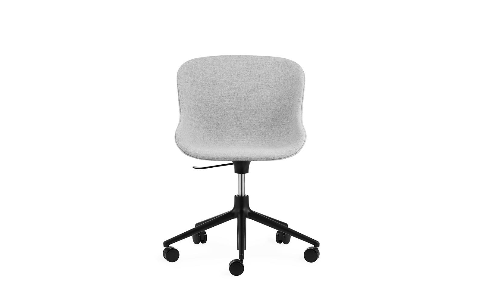 Hyg Chair Swivel 5W Gaslift Full Upholstery Black Alu2