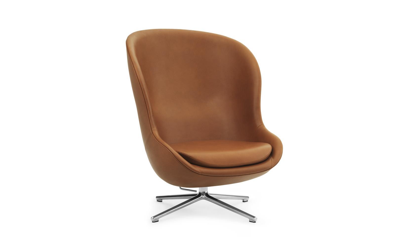 Hyg Lounge-Sessel Hoch mit Drehgestell und Kippfunktion, Aluminium ...